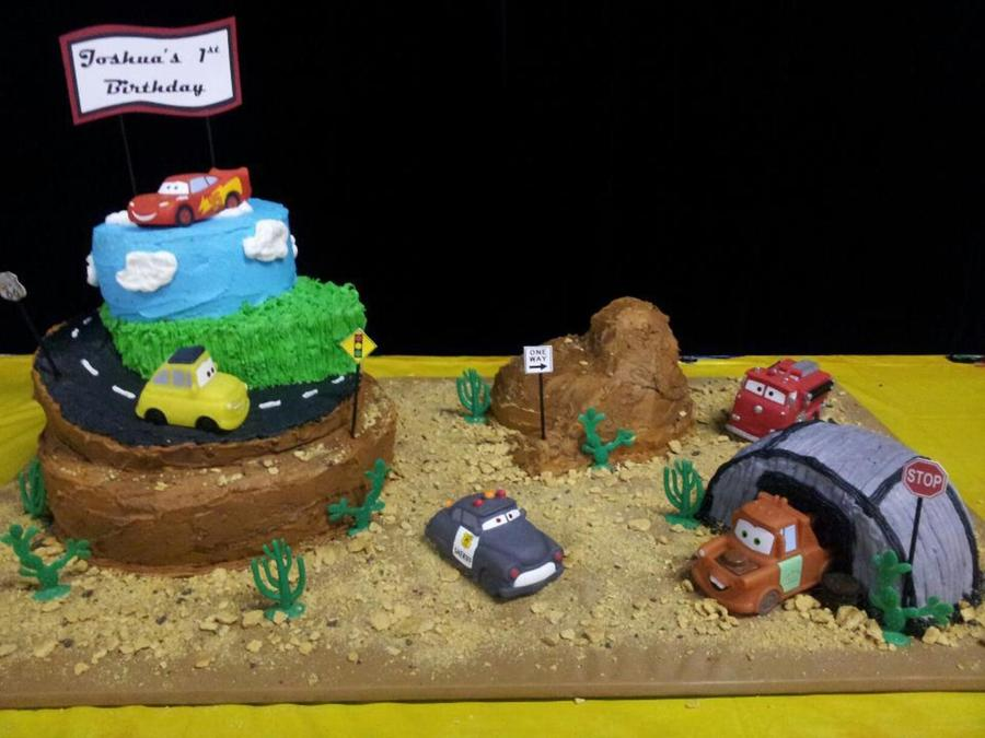 Disney's Cars Theme Cake on Cake Central