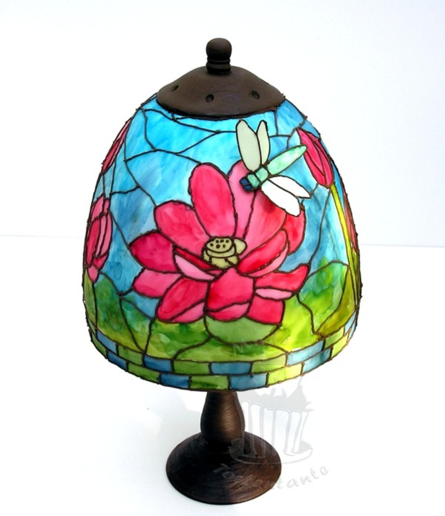 Stained Glass Lamp on Cake Central