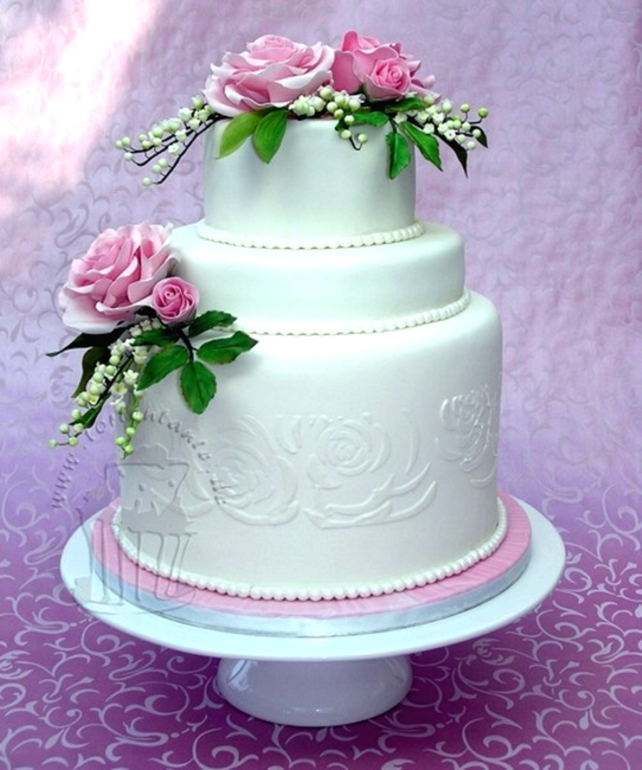 Roses And Lily Of The Valley  on Cake Central