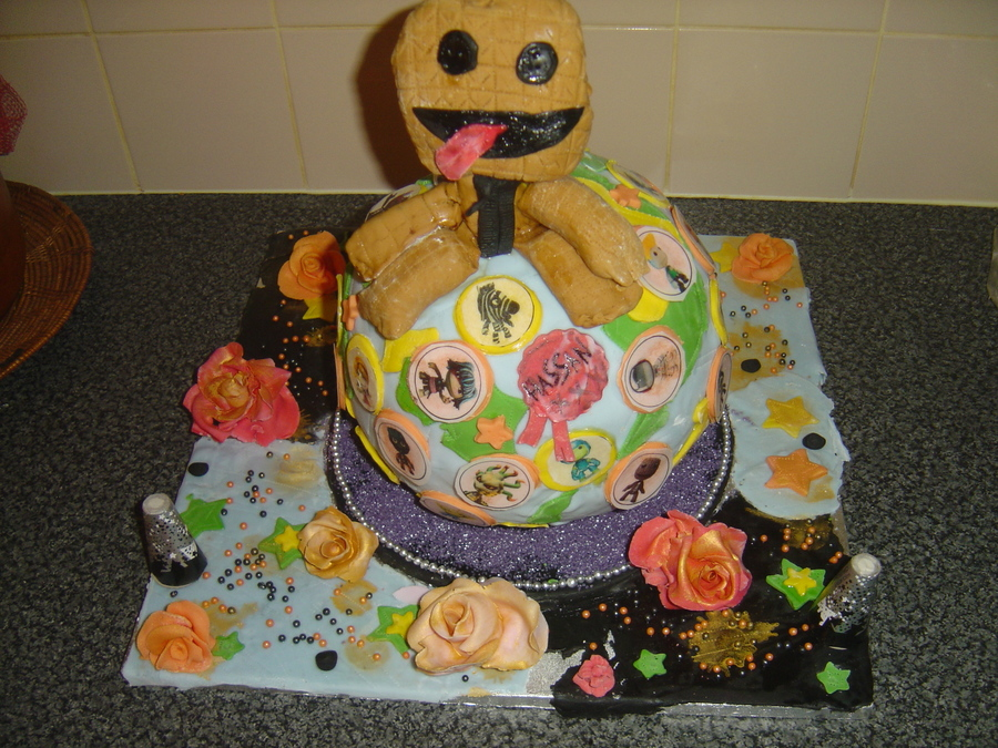 For My Sons 12Th Birthday Tomorrow I Made Him The Little Big Planet He Is Mad About  on Cake Central