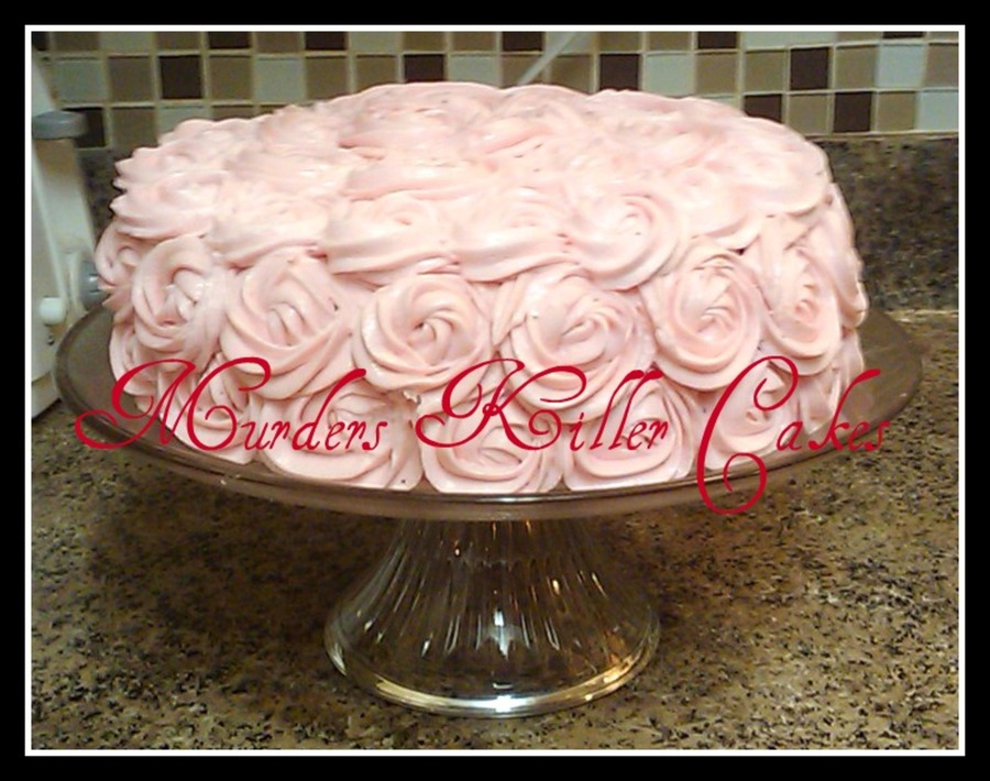 Rose Swirl Cake For My Baby Girl Haddi on Cake Central
