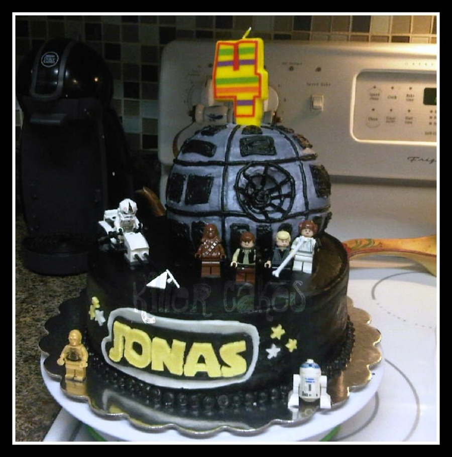 Wondrous My Baby Boys Star Wars Birthday Cake Cakecentral Com Personalised Birthday Cards Paralily Jamesorg