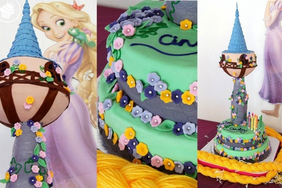 Tangled Tower on Cake Central