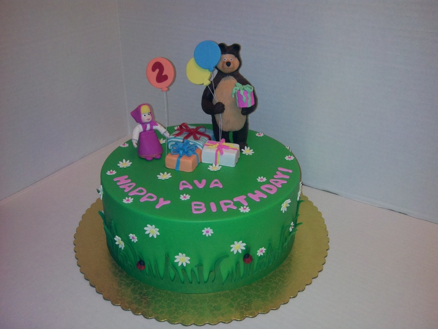 Cake Art Modeling Chocolate : Masha And The Bear All Decorations Are Made From Modeling ...