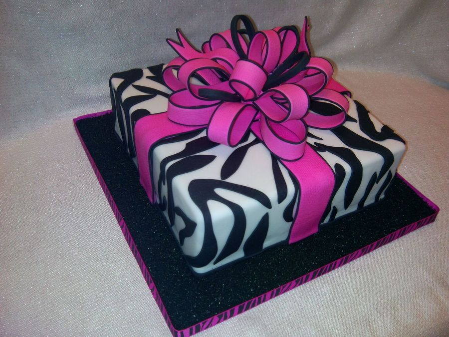 Gift Box Cake For My Friend Bd on Cake Central