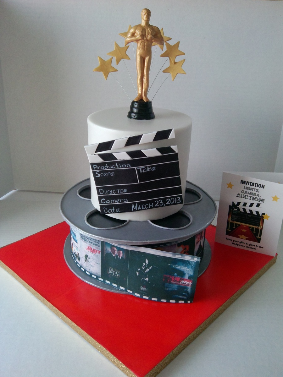 Hollywood Themed Cake For Charity Auction on Cake Central