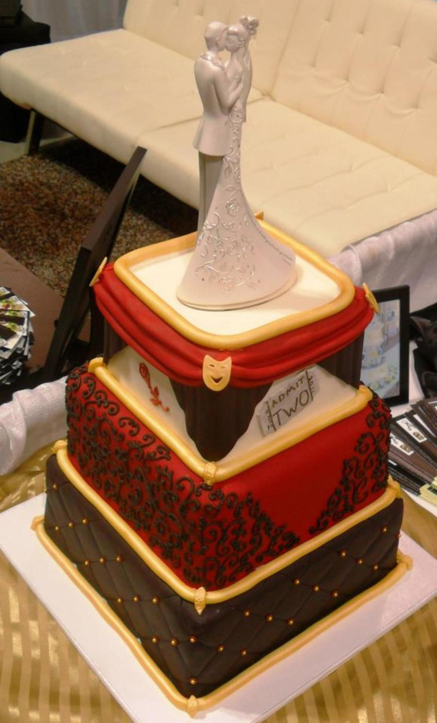 Theater Themed Wedding Cake I Did For The Southern Bridal Show In Charleston Sc While At Abbies