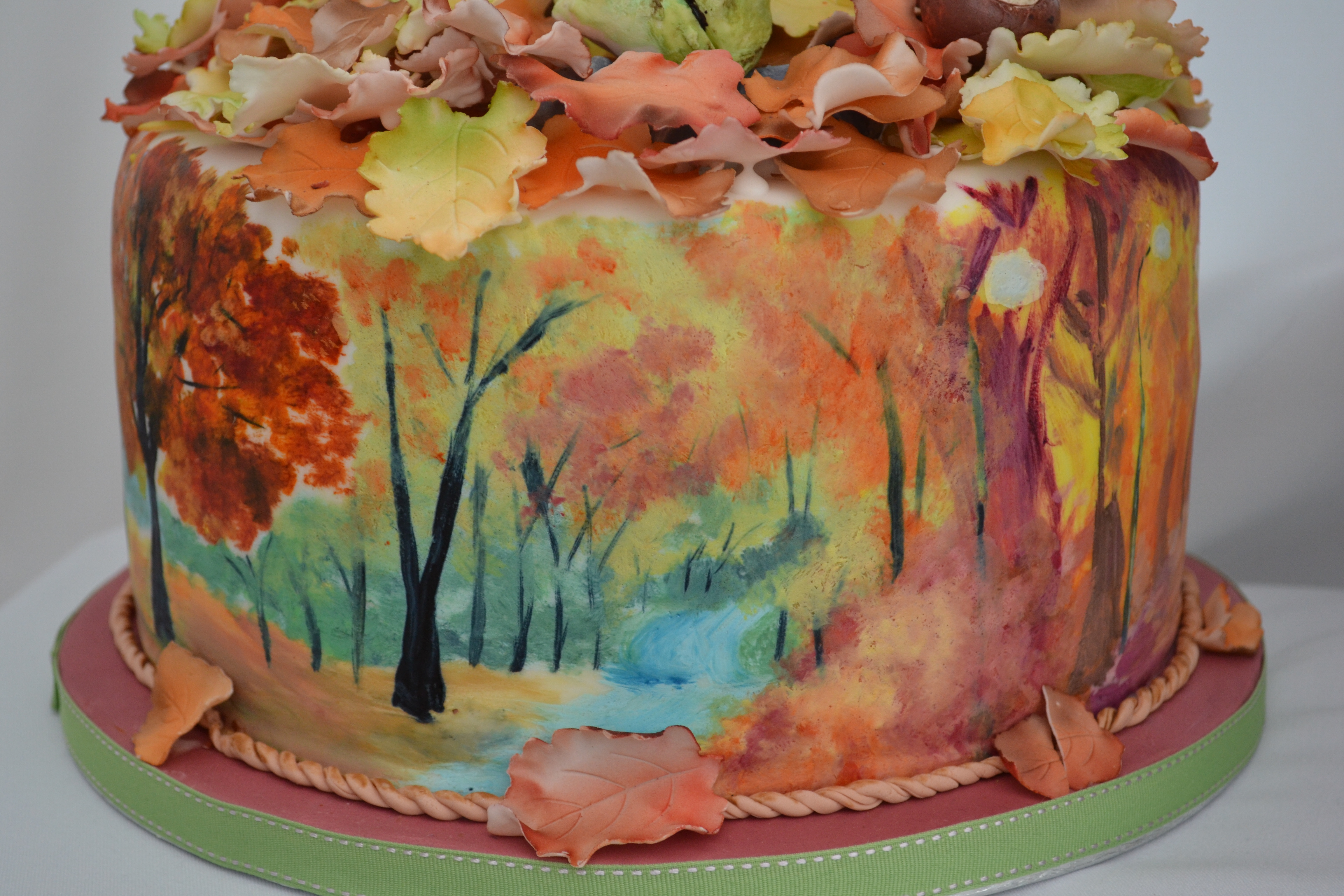 Autumnal Hand Painted Cake Cakecentral Com