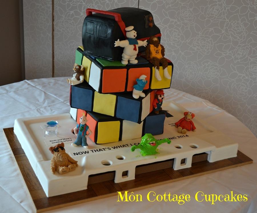 90 S Themed Wedding Cake Cakecentral Com