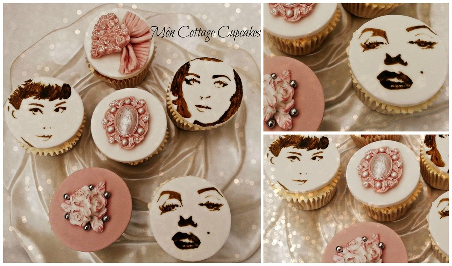 23rd Wedding Anniversary Gift Ideas: Vintage Hollywood Inspired Cupcakes
