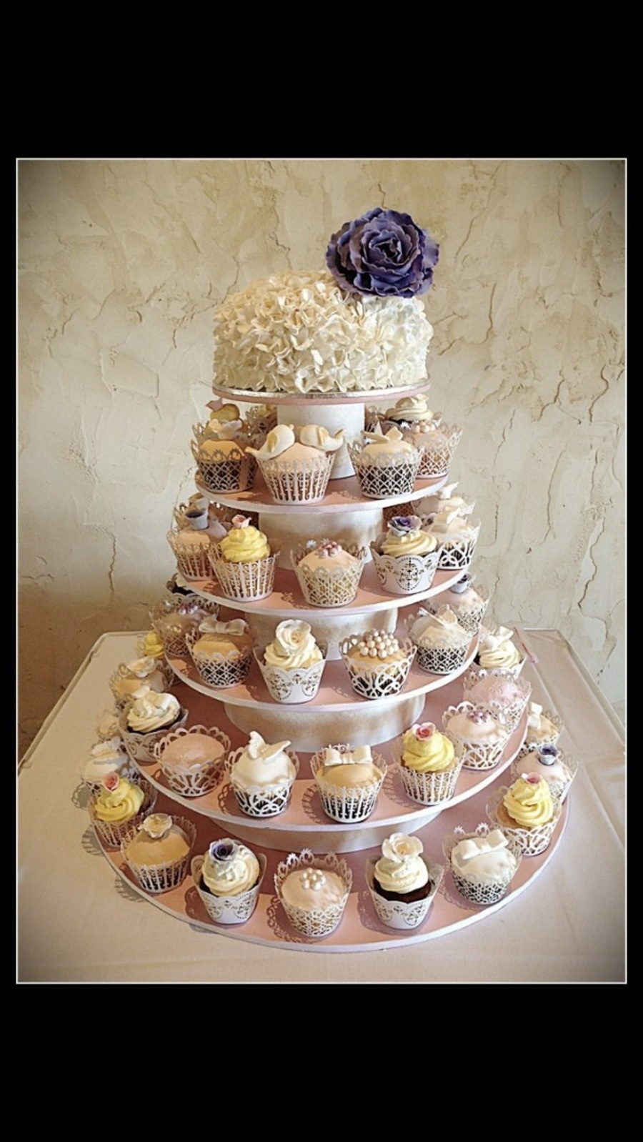 Vintage Wedding Tower  on Cake Central