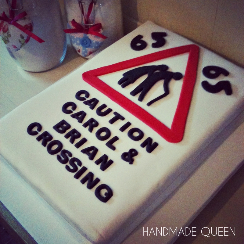 Old People Crossing 65th Birthday Cake Cakecentral Com
