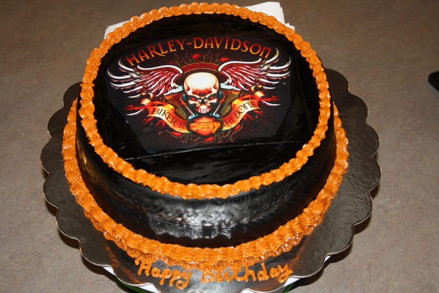 Harley Davidson Birthday Cake For My Husband CakeCentralcom