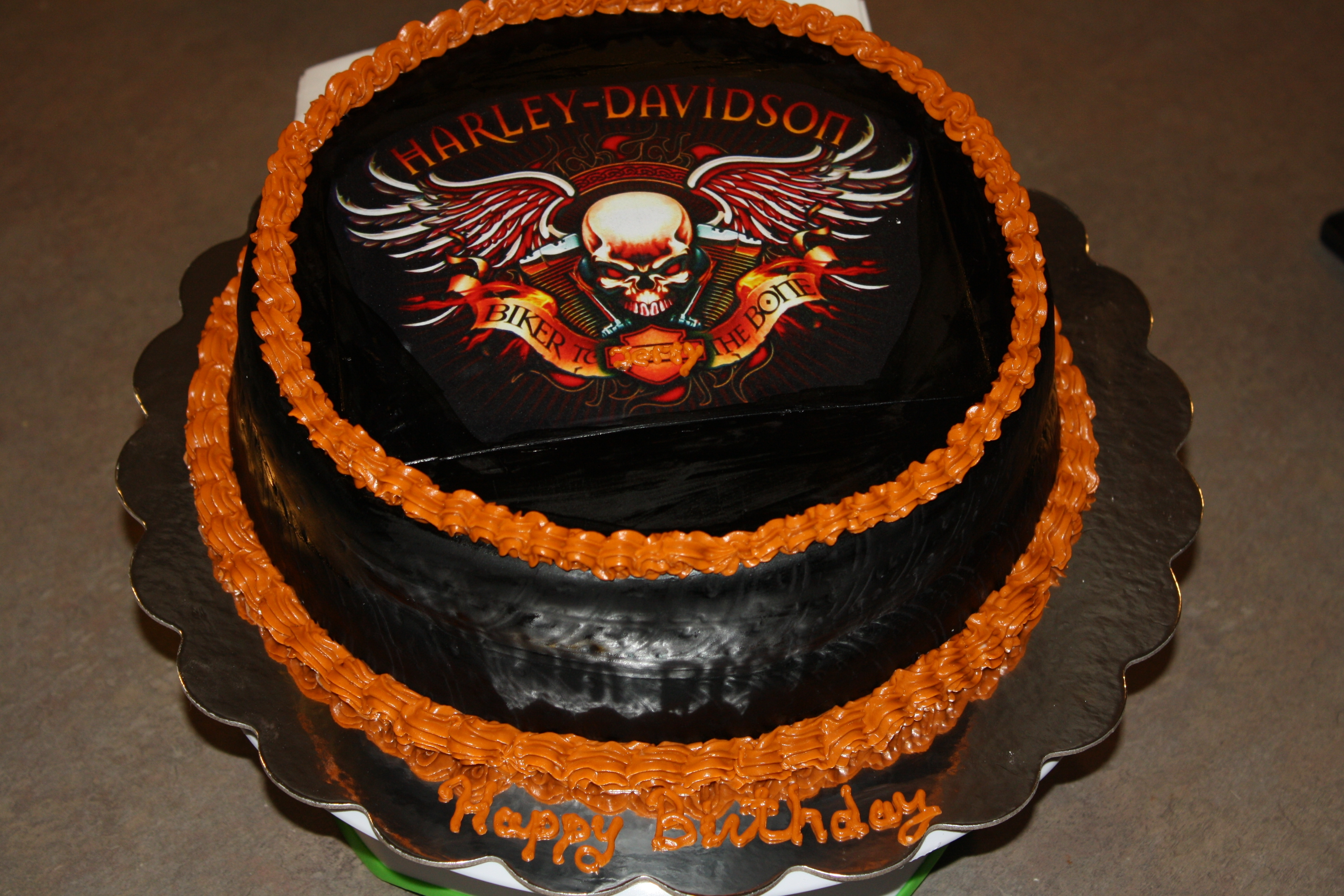 Anniversary Cake Images In Hd : Harley Davidson Birthday Cake For My Husband - CakeCentral.com