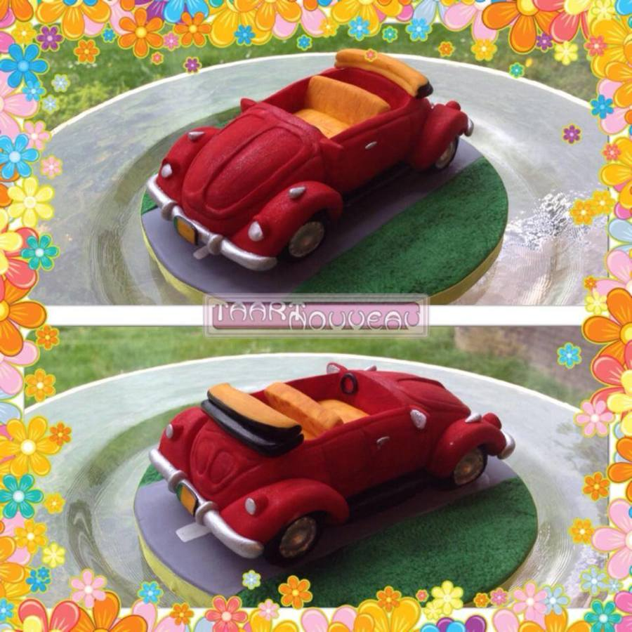 Vw Beetle Cake Topper