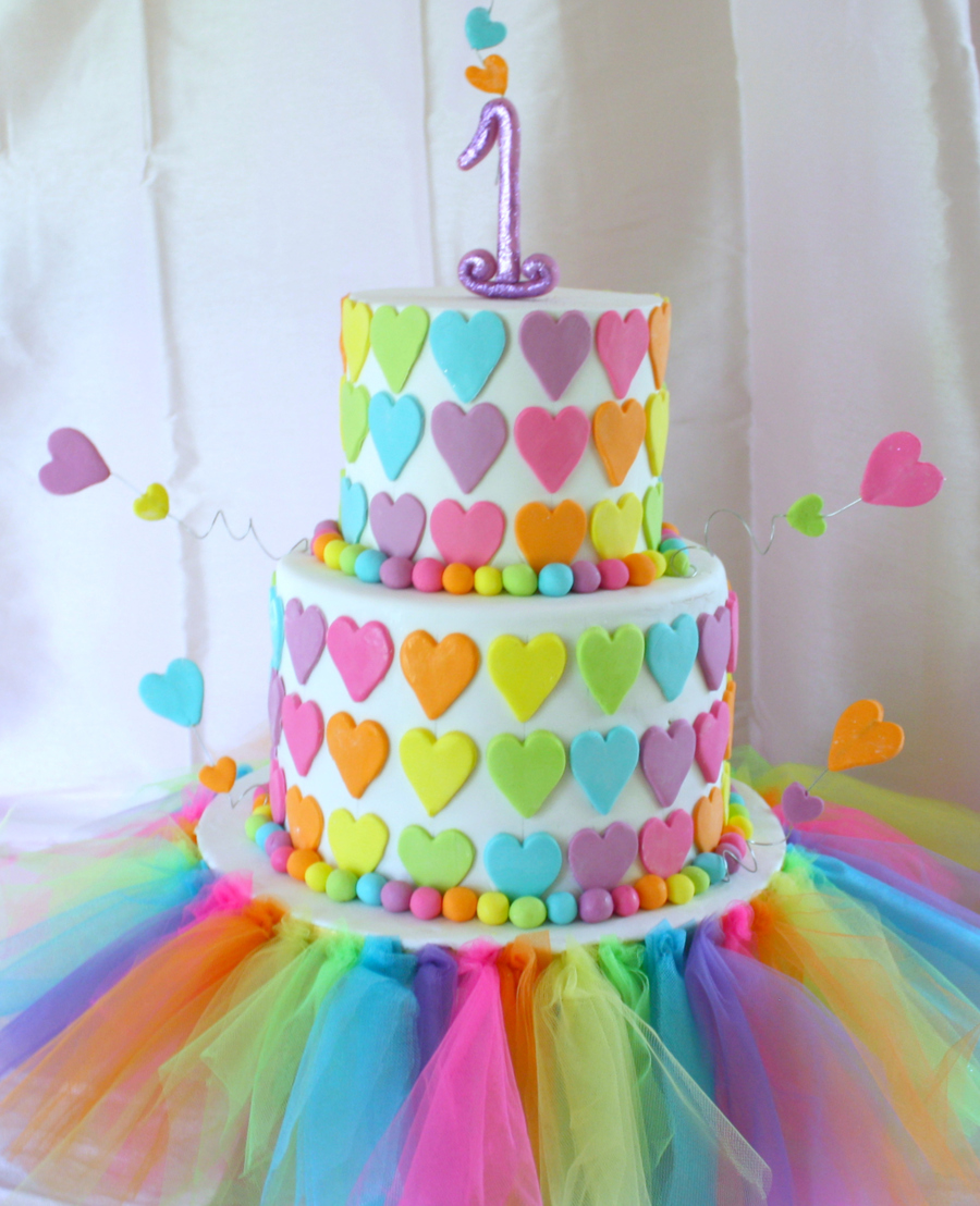 Rainbow First Birthday Cake Cakecentral Com