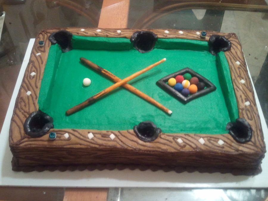 Pool Table Cake Decorating
