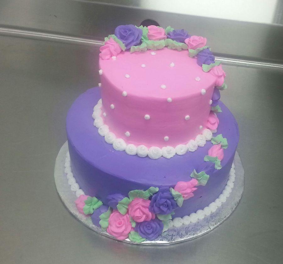 Tier Pink Birthday Cakes