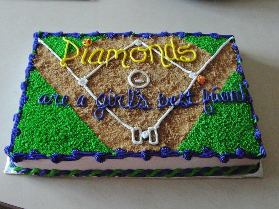 Krista's Baseball & Softball Cakes - CakeCentral.com
