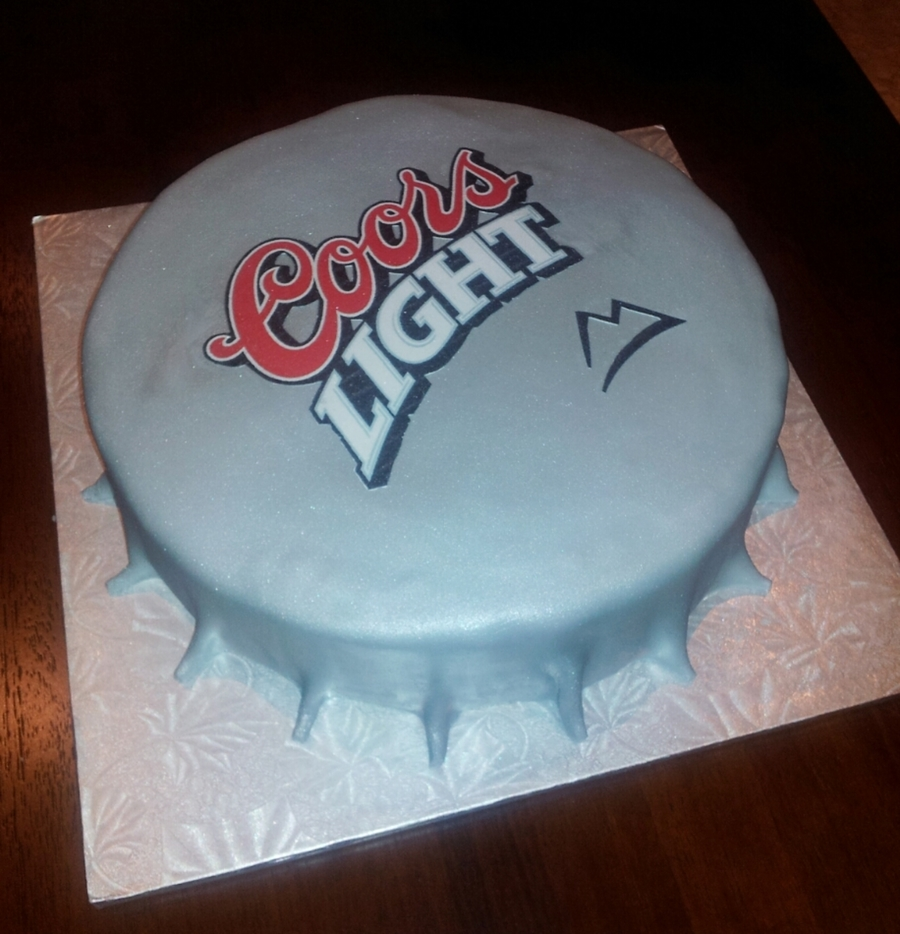Bottle Cap Cake Tutorial