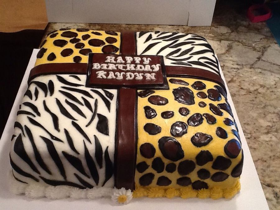 How To Make Leopard Print Cake With Buttercream