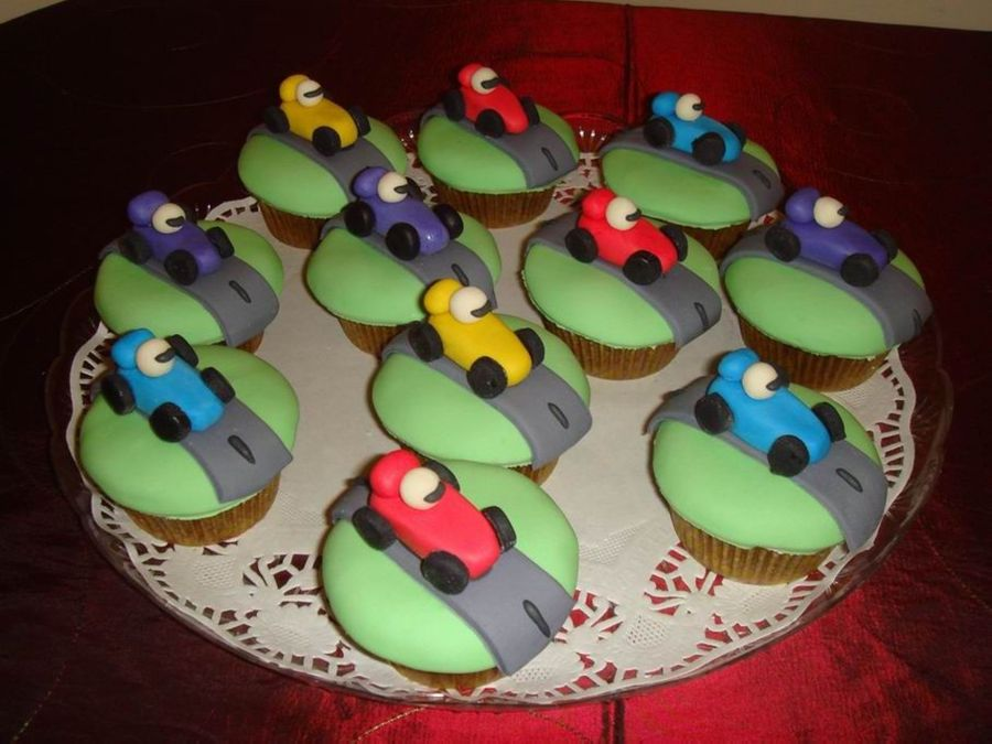 Racing Cars Cupcakes  on Cake Central