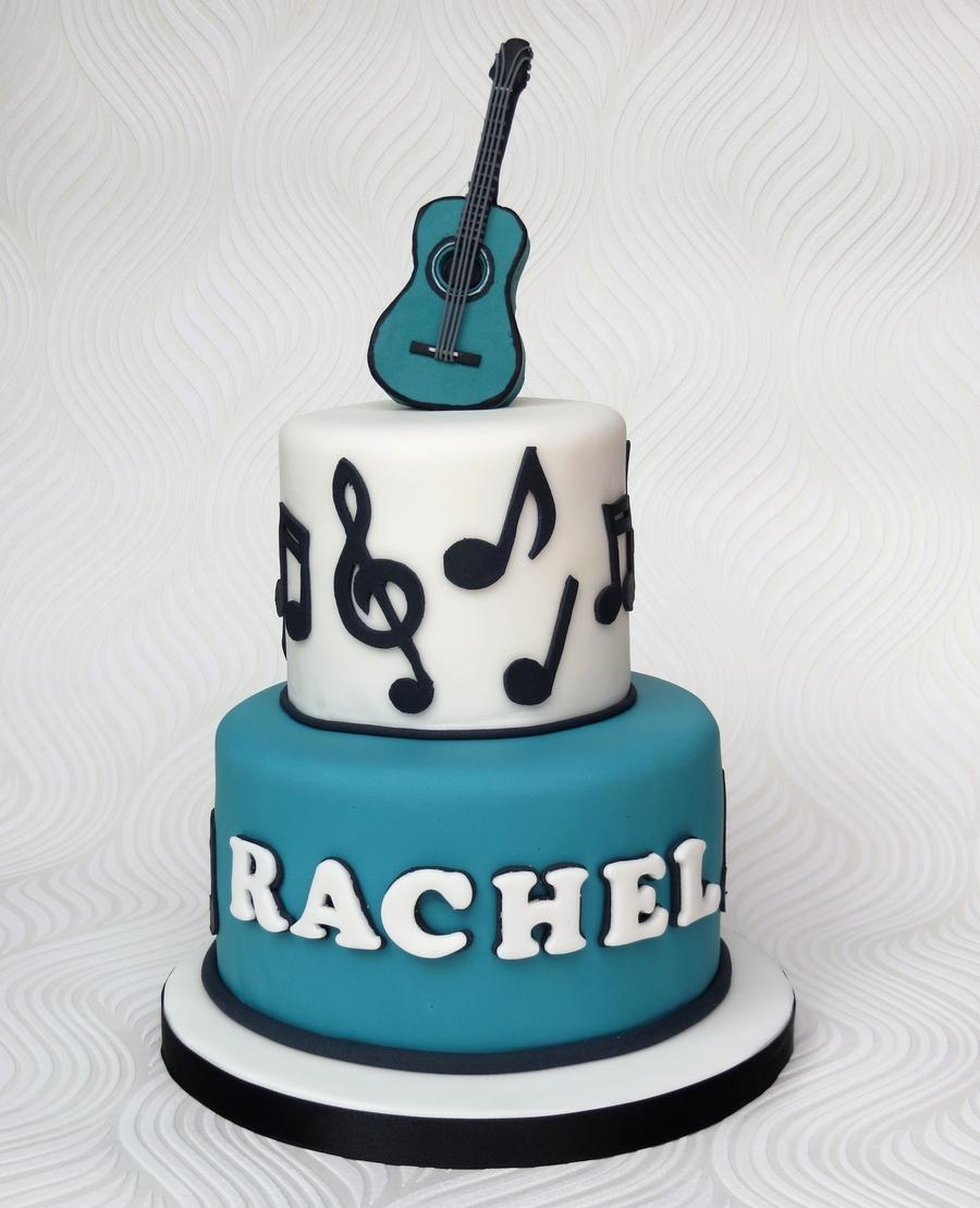 Acoustic Guitar Music Cake - CakeCentral.com