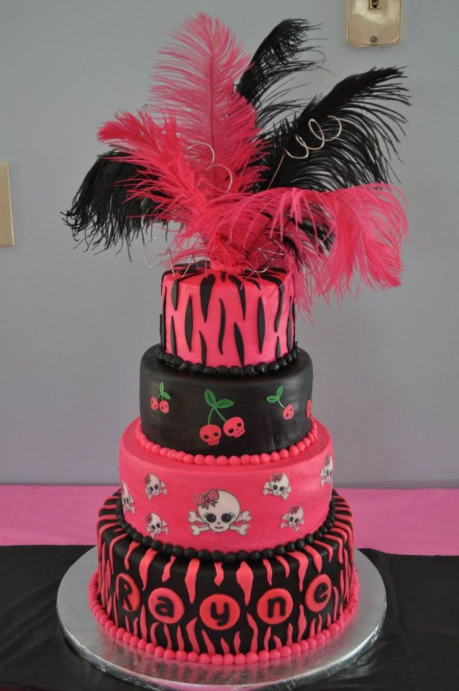 Rocker Baby Shower Cake  on Cake Central
