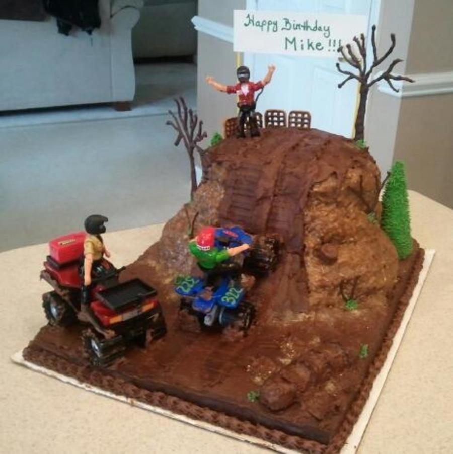 4Wheeler Hillclimb Cake I Did For My Hubbys 41St Birthday