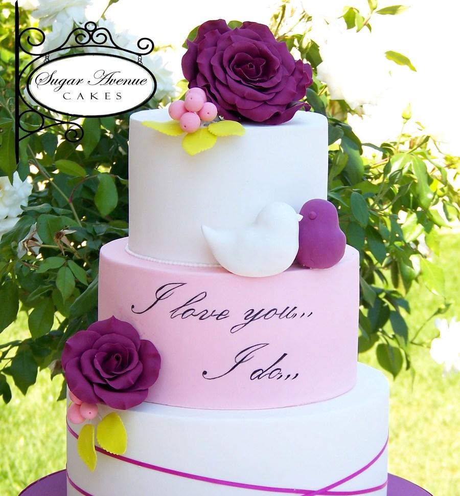 Love Birds Wedding Cake Recipe