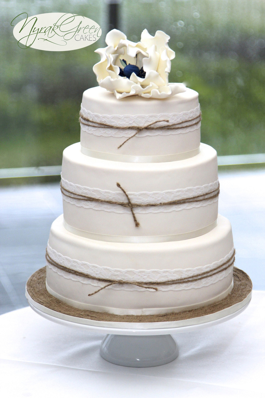 Chocolate Nautical Wedding Cake