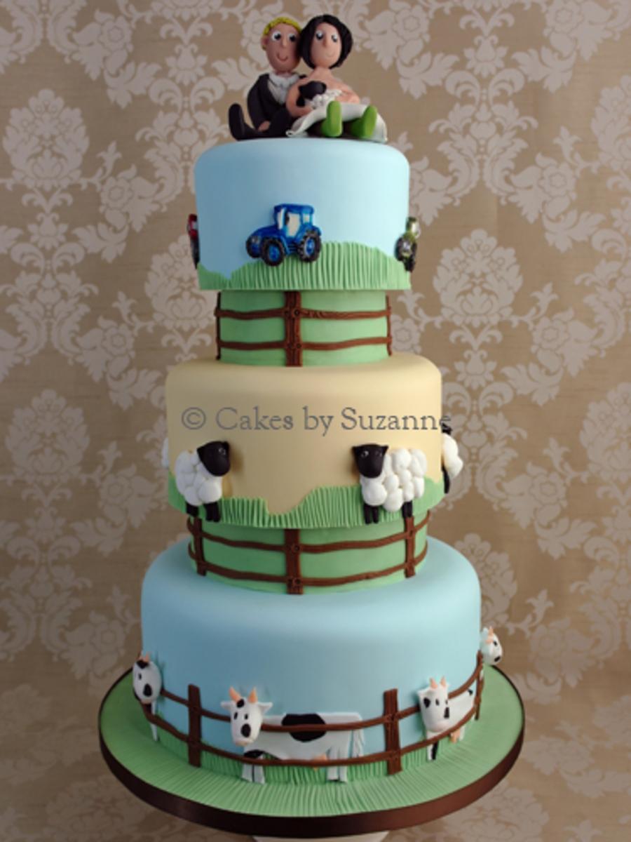 Cake Decoration Farm Theme : Farm Theme Cake With Separators. - CakeCentral.com