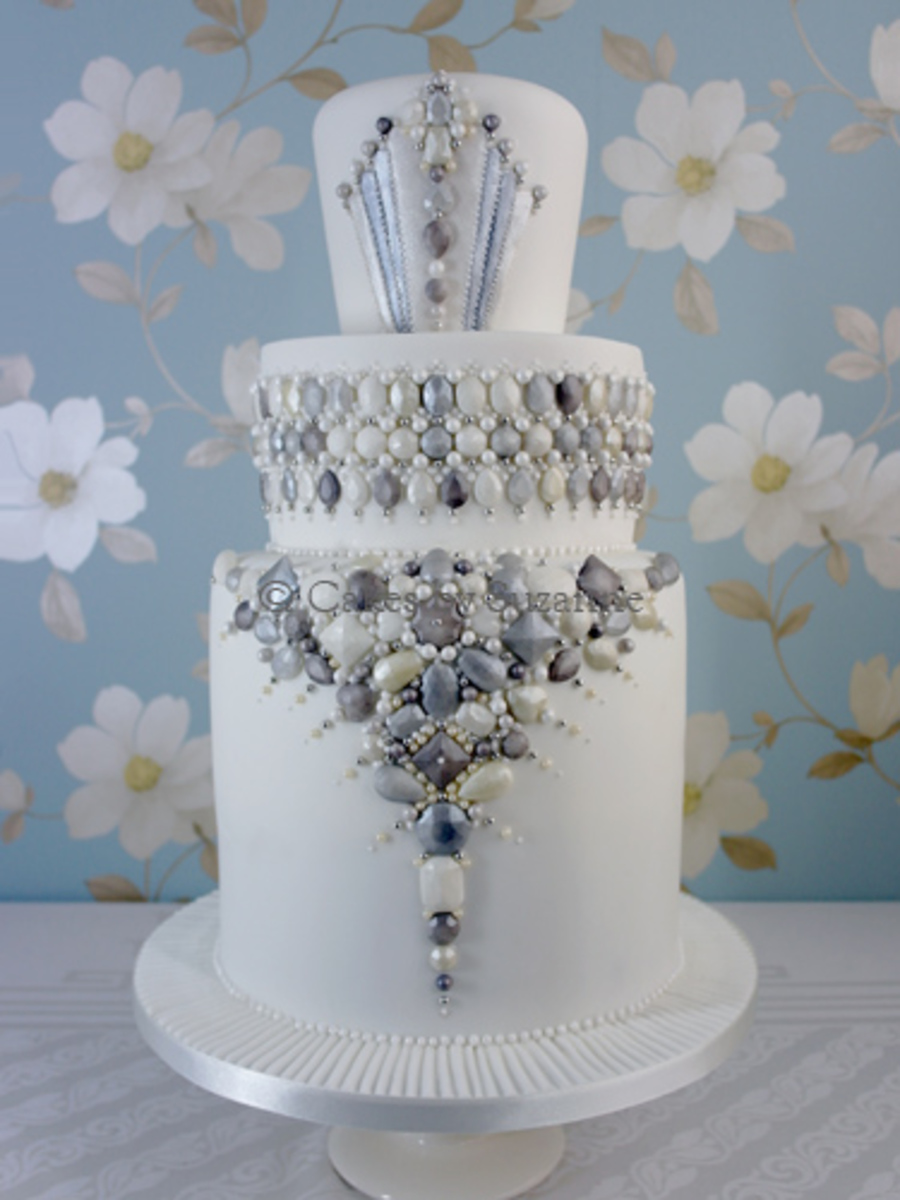 Art Deco Jewels Cake Cakecentral Com