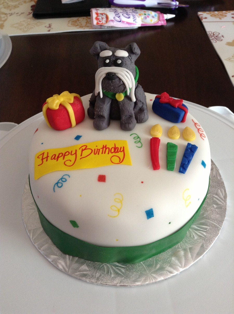 Birthday Cake With Fondant Decorations And Featuring Ted