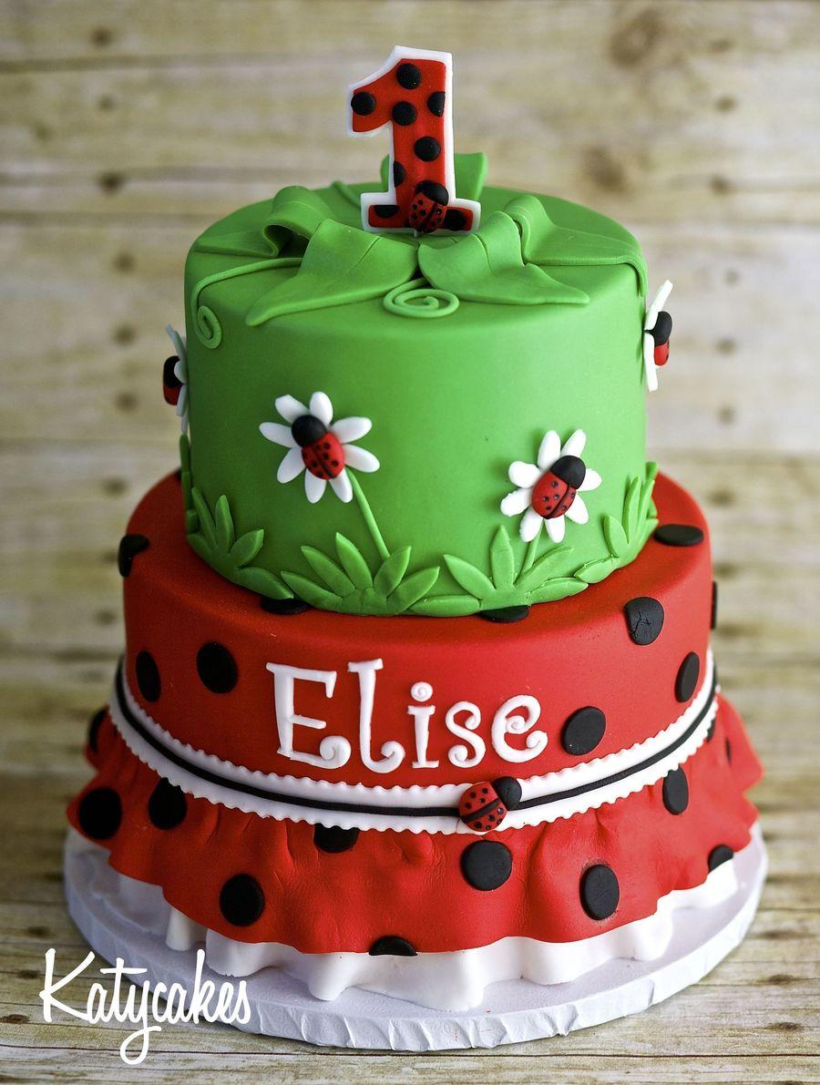 Ladybug 1st Birthday Cake Cakecentral