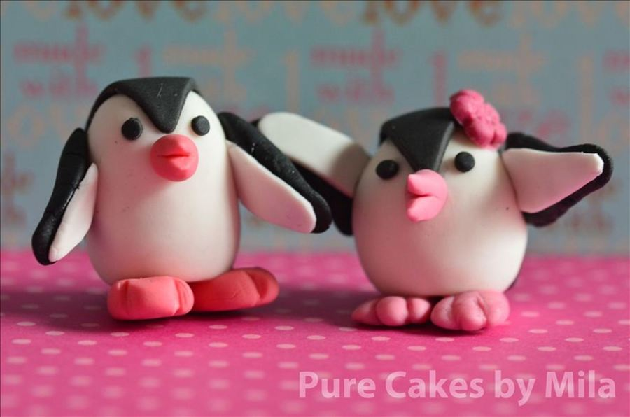 Fondant Penguins! on Cake Central