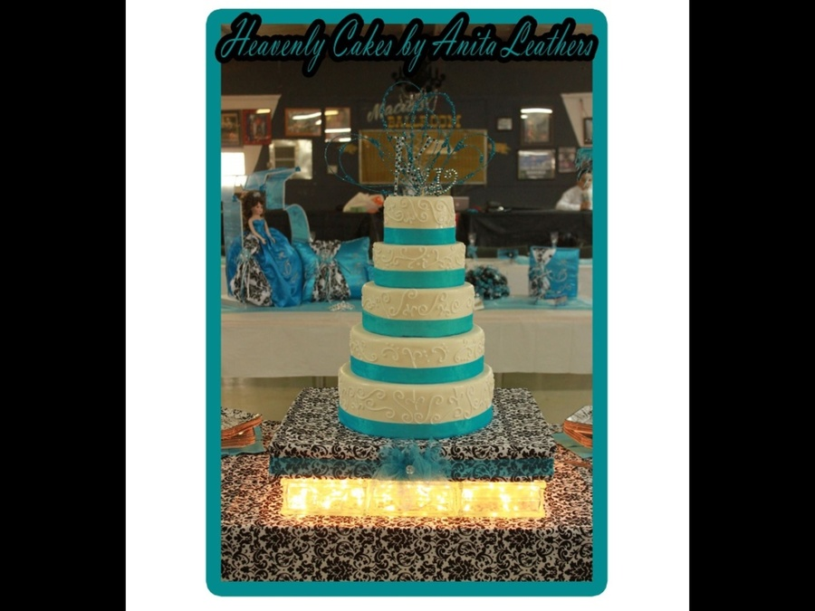 5 Tiered Birthday Cake on Cake Central