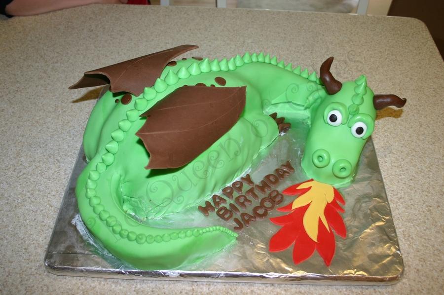 Awesome Dragon Birthday Cake Cakecentral Com Personalised Birthday Cards Veneteletsinfo