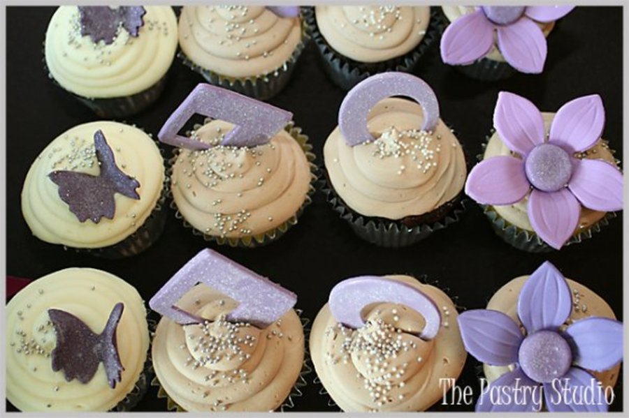Lavender Themed Cupcakes By The Pastry Studio on Cake Central