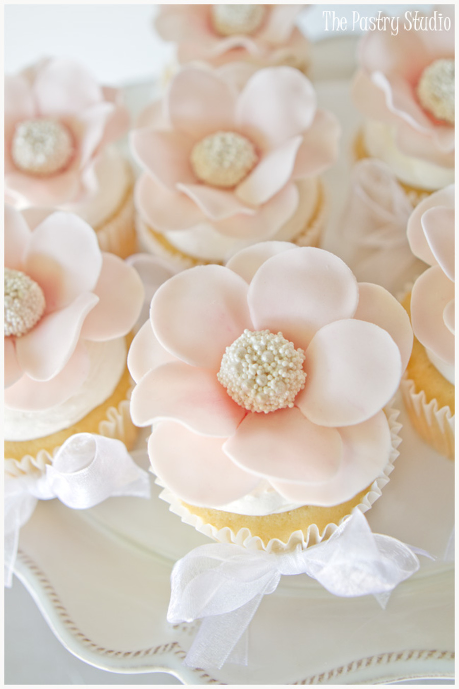 Floral Pearl Centered Cupcakes on Cake Central