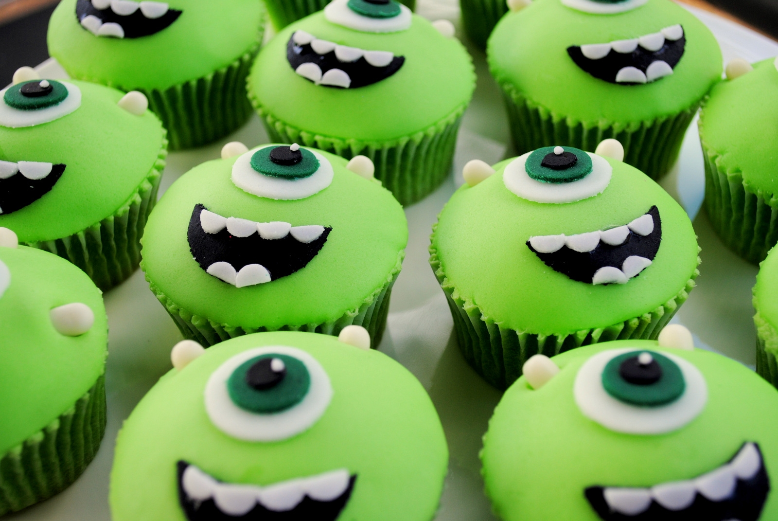 Monsters Inc Cupcake Cake