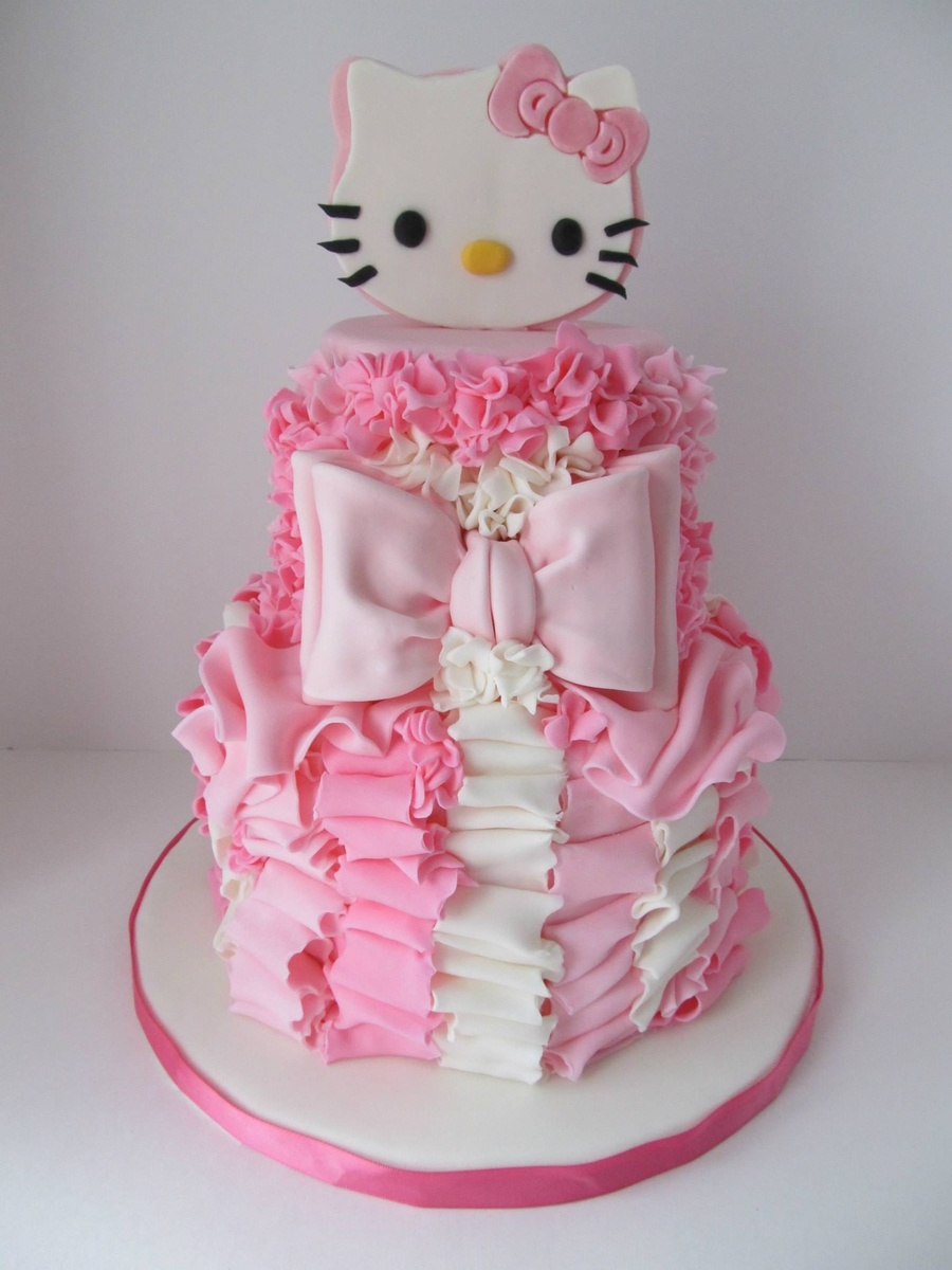Pretty In Pink 4Th Birthday Cake CakeCentralcom