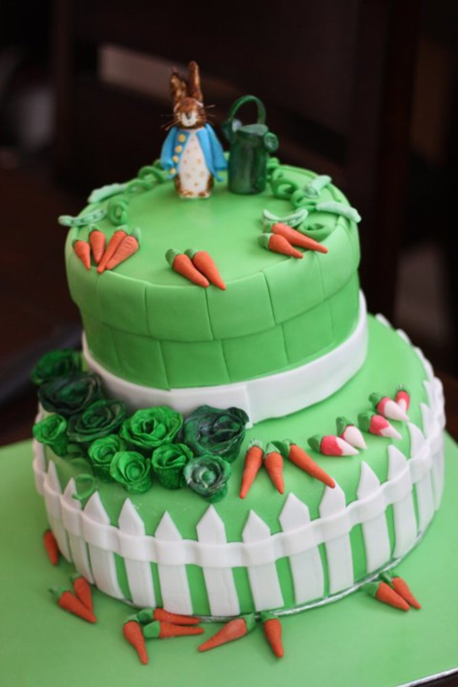 Peter Rabbit Baby Shower Cake on Cake Central