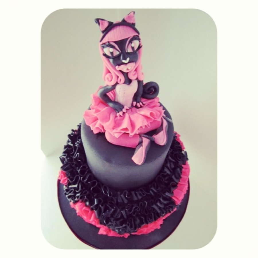 Catty Noir Monster High 6th Birthday Cake Cakecentral Com