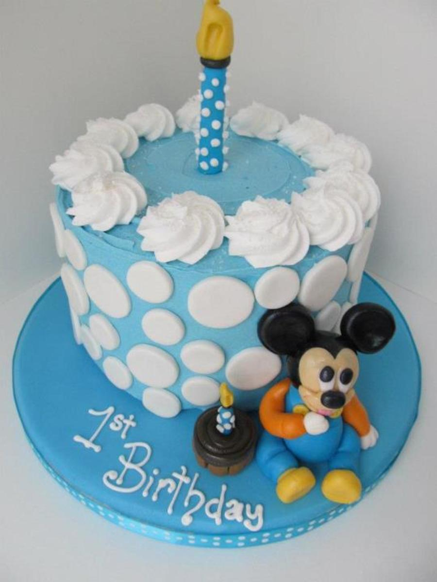 Incredible Baby Mickey Mouse 1St Birthday Smash Cake Cakecentral Com Funny Birthday Cards Online Alyptdamsfinfo