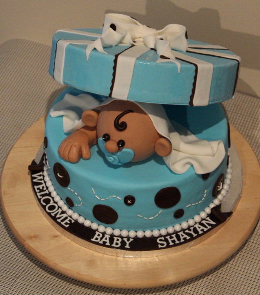 Baby In The Box Cake on Cake Central