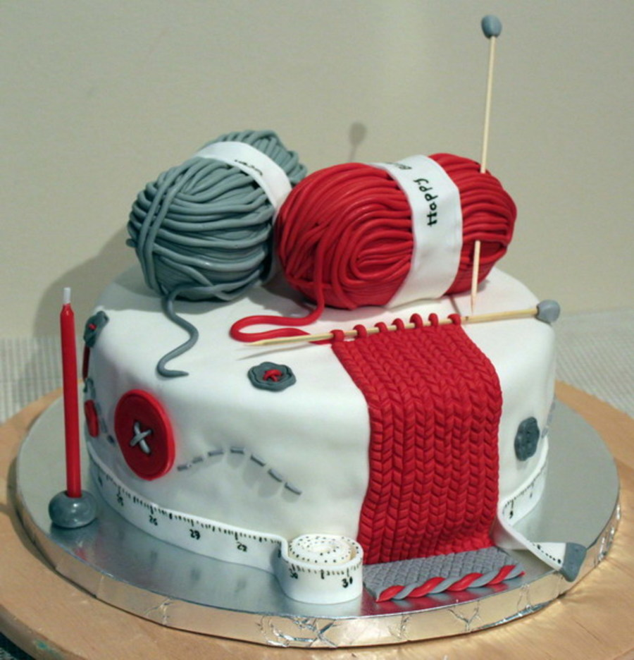Knitting Lover Cake on Cake Central