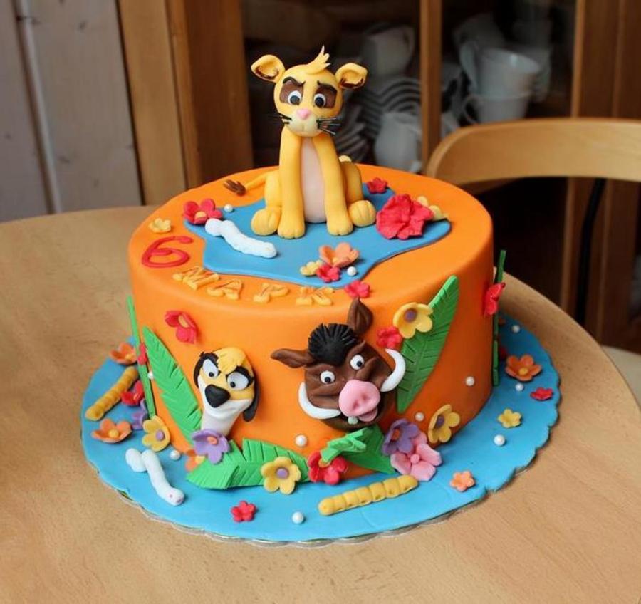 Lion King Symba Cake Birthday Cakes
