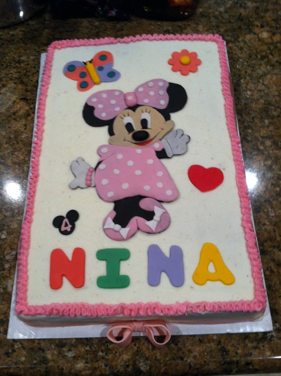 Surprising Birthday Cake For 4 Year Old Buttercream Frosted With Fondant Personalised Birthday Cards Veneteletsinfo