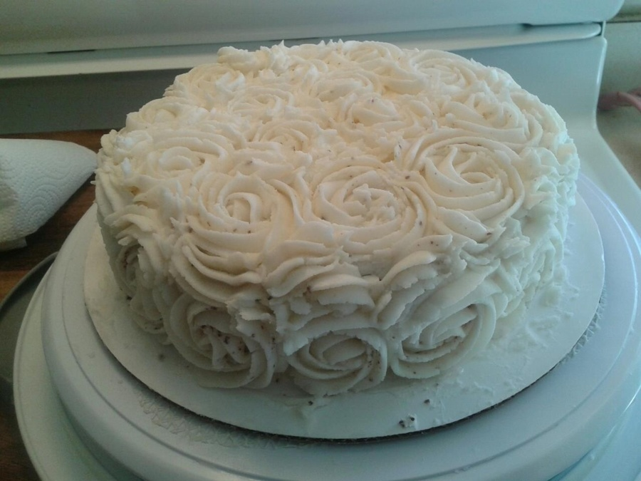 Rose Cake Buttercream 2D Tip 6In Cake on Cake Central